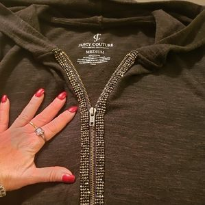 Juicy Couture, Med, jog suit, gray, blingy